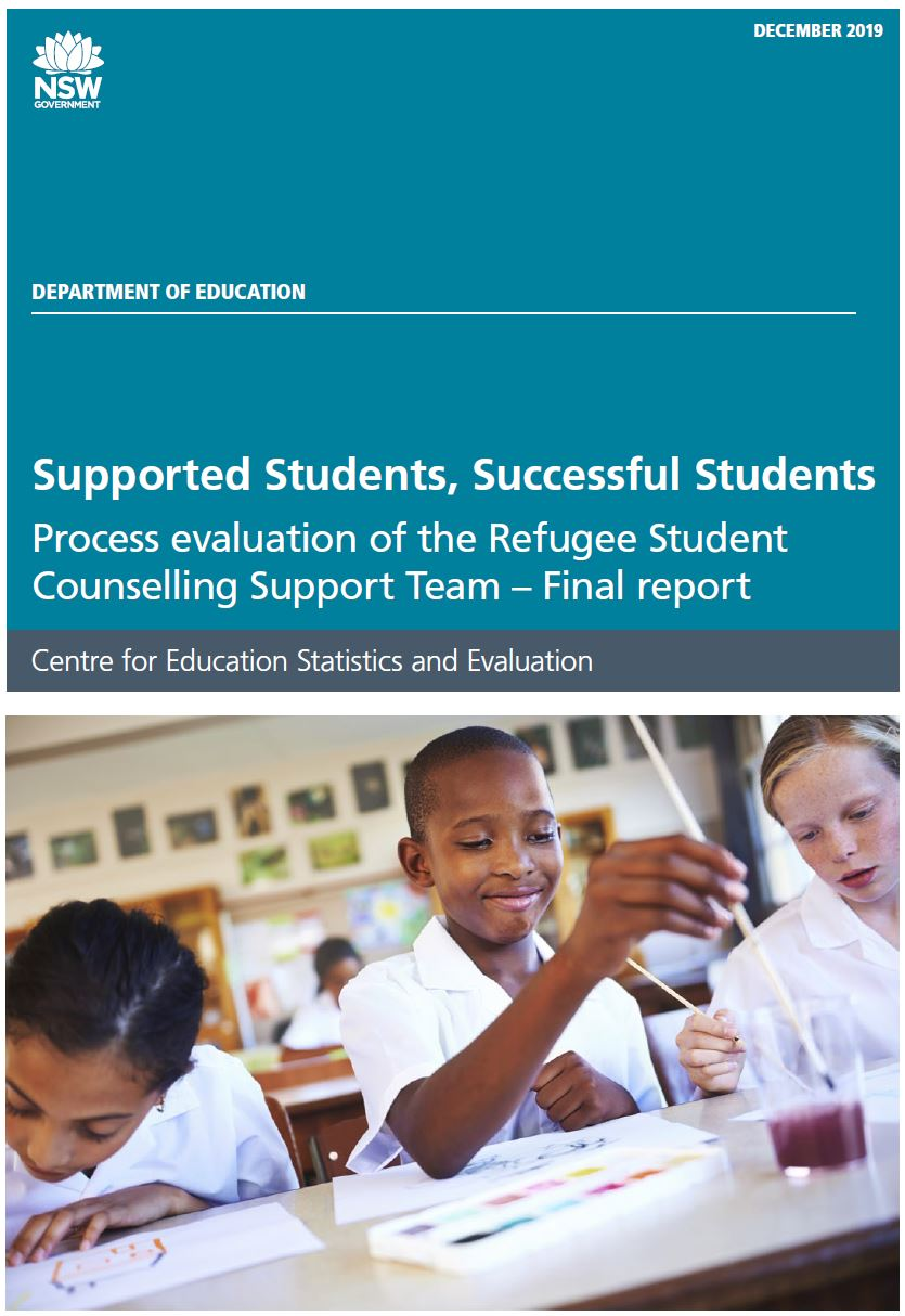 Process evaluation of the Refugee Student Counselling Support Team (PDF, 7MB)