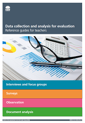Data collection and analysis for evaluation – reference guides for teachers (PDF, 316kB)