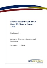 Tell Them From Me Student Survey Trial Final Rpt 2014