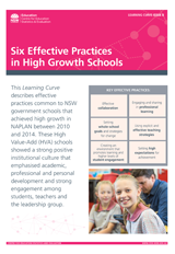 Six Effective Practices in High Growth Schools (PDF, 1.5MB)