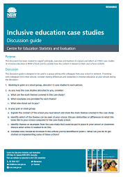 Inclusive education case studies discussion guide (PDF, 229kB)