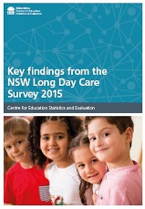Key findings from the NSW Long Day Care Survey 2015 (PDF, 2.3MB)