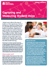 Capturing and measuring student voice (PDF, 1.1MB)