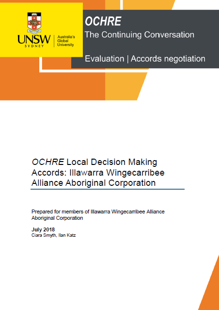 OCHRE Local Decision Making Accords: Illawarra Wingecarribee Alliance Aboriginal Corporation report (PDF, 383kB)