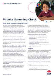 Phonics Screening Check (PDF, 1.3MB)