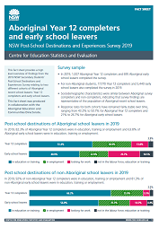 Aboriginal Year 12 completers and early school leavers (PDF, 710kB)