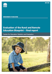 Evaluation of the Rural and Remote Education Blueprint - final report (PDF, 2MB)