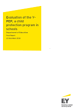 Evaluation of the Y-PEP a child protection program in schools (PDF, 1.7MB)