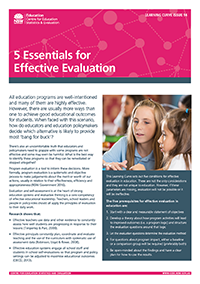 Learning Curve 14 - 5 Essentials for Effective Evaluation
