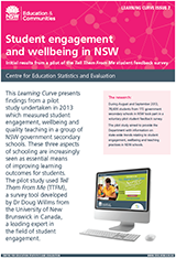 Student engagement and wellbeing in NSW (PDF, 2MB)
