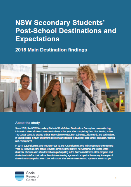NSW secondary students' post-school destinations and expectations report (PDF, 1.4MB)